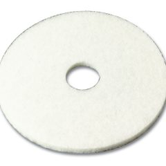 "3M Series 4100 20"" White Low Speed Burnishing Pad"