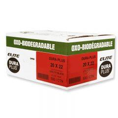 Sac à déchets Elite Cs/500 OXO en polyéthylène noir *utilité*